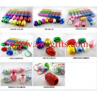 China Christmas gift accessory ribbon assorted colors star bow shinning ribbon For Gift Packing wholesale