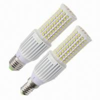 China 7W LED EMC Corn-shape Bulbs with 585 or 650lm Initial Luminous Flux, RoHS Directive-compliant wholesale
