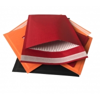 China Custom Red Self Sealing Paper Mailers Packaging Cushioned Envelopes on sale