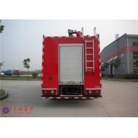 China Rotatable Cab Foam Fire Truck Red Printed Inline Eight - Cylinder Engine wholesale