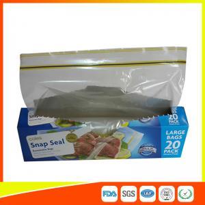 China Snap Seal Reusable Sandwich Bags For Coles Supermarket Large Size 35*27cm wholesale