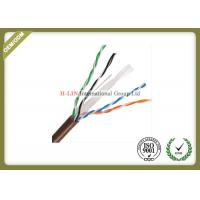 China Network Optical Ethernet Cable , Cat6A UTP Cable Pure Copper 0.57mm Conductor wholesale