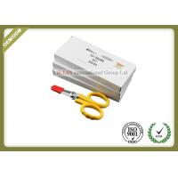 China Straight Shape Fiber Optic Kevlar Cutter With Sawtooth Yellow Color wholesale