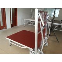 China Red Light Weight Aluminum Folding Stage With Wheels Strong Loading Capability wholesale