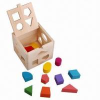 China Wooden Block Toys, REACH/EN and CE standards, Customized Sizes/Shapes are Accepted wholesale