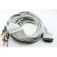 China Besdata ECG / EKG Cable For 3-Lead / 5-Lead Patient Monitor White Gray Color wholesale