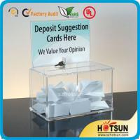 China Waterproof Lockable Acrylic Donation / Suggestion Boxes with Card Holders wholesale