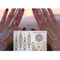 China Jewelry Inspired Metallic Body Tattoo Stickers Hand Bracelets Designs wholesale