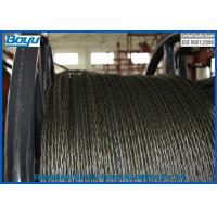 18 Strands Anti twist Galvanized Steel Wire Rope for Transmission Line Stringing 252kN 20mm Diameter