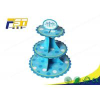China Light Weight Cardboard Cake Display Multi Tiers Customized Size For Wedding wholesale
