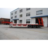 Buy cheap 3 Axles 80 Tons 17m Hydraulic Flatbed Trailer 12 Wheels Loading Construction from wholesalers