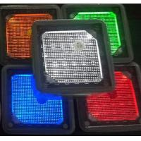 Buy cheap 4x4'' square white blue green yellow red Solar landscaping paver brick lights from wholesalers