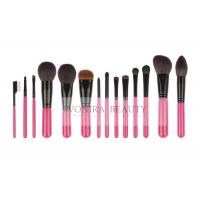 China 14 PCS Pink Deluxe CosmeticMakeup Brush Collection With Exquisite Nature Bristles wholesale
