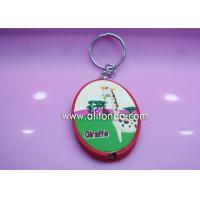 China Promotional key ring with lighting custom for real estate agency company wholesale