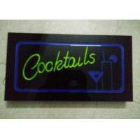 Buy cheap 23X43cm Cocktails  Illuminated Sign With Four Display Modes  Window Signage from wholesalers