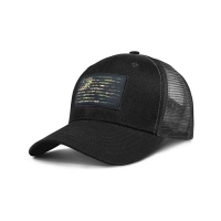 China Six Panel Patch Soft Mesh Trucker Hat With Plat Front Embroidery wholesale