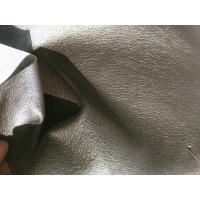 China 54 Inch Width Textured Vinyl Upholstery Fabric , Polyurethane Faux Leather Fabric wholesale