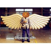 China Shiny Slivery Angel Wings Inflatable Costumes for Adults Stage and Party Performance wholesale