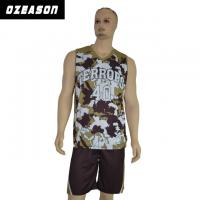 China Custom Logo Printing Reversible Dri Fit Mesh Basketball Jersey wholesale