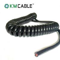 China Semi Truck Trailer Power Cord PVC Insulation Flame Retardant Spring Coiled on sale