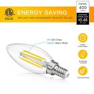Quality E14 / E27 Edison Light Led Filament Bulb , Incandescent Globe Led Bulb Repplacement for sale