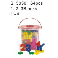 Educational Toy, Alphabet Blocks, Teaching Aids, a. B. C Blocks Tub (S-5040)