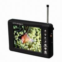 China Portable Digital TV with 3.5-Inch Screen, Rod Antenna Reception and Signal Quality Indicator on sale