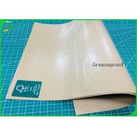 China Food Grade And Greaseproof PE Coated Paper Laminated Kraft Paper Roll For Lunch Box on sale