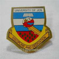 China Custom gold plated enamel painting university lapel pin with butterfly clutch, on sale