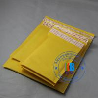 China 20cm*25cm yellow gold paper kraft  cushioned air bubble mailer for electronic components wholesale