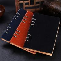 China Business gift - Manufacture loose-leaf notebooks 6 ring binder leather agenda LN-005 wholesale