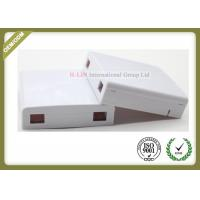 China Optical Socket FTTH Distribution Terminal Box Wall Plate Outlets 2 Port wholesale