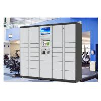 China Self Service Custom Web Online Parcel Delivery Lockers with Advertising LCD on sale