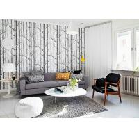 China Vantage Birch Tree Modern Removable Wallpaper / Wallpaper for Living Room  0.53*10M wholesale