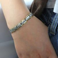 China Factory Hot Unisex Stainless Steel Chain Germanium Energy Bracelet for Silver Gold Jewelry wholesale