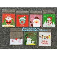 China Hot 100pcs/lot Cute Snowflake Snowman Santa Xmas Christmas Gifts Holders Bake Biscuit Cookies Candy Jewelry Packaging Ba wholesale