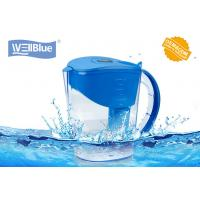 China Eco Friendly 3.5L Wellblue Alkaline Water Filter Pitcher With Negative Ion Ceramic Balls wholesale