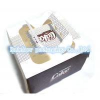 China Foldable Paper Box Packaging Transparent Window Handle For Cake wholesale