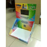 China Easy-assembling Corrugated Cardboard Counter Displays for LCD display with 4C offset print wholesale