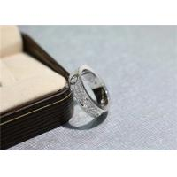 China Pave Diamonds N4210400 Cartier Love Ring 18k White Gold wholesale
