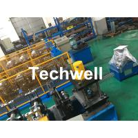 China Carbon Steel Shutter Door Guide Rail Roll Forming Equipment With 16 Roller Stations wholesale