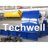 China Custom 5 - 20 Ton Curving Machine Hydraulic Decoiler With Pneumatic Damp Pressing Arm wholesale