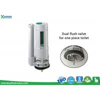 Quality One Piece Toilet Flush Valve With Adjustable Dual Flush System for sale