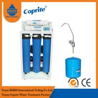 China 200 / 400 GPD Reverse Osmosis Water Filtration System / Triple Water Filter With 11G Steel Tank wholesale