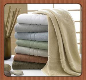 China Wholesale custom beach towel 70% bamboo fiber 30% cotton hotel bath towel fabric wholesale