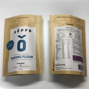 China Reusable Custom Printed Paper Bags Aluminium Foil Ziplock For Food Flour Packaging wholesale