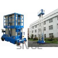 China Four Mast Two Men Aerial Work Platform With 8m Working Height 480 Kg Load Capacity wholesale