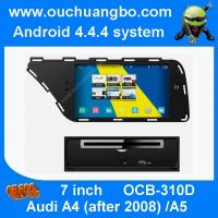 China Ouchuangbo 7 inch Audi A4 A5 car stereo gps radio with 1024*600 4 core USB S160 platform wholesale