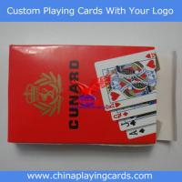 China 100% plastic playing cards on sale