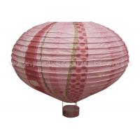 China Hot - air Balloon Unique Shaped Paper Lantern With Luminous Customized Printing wholesale